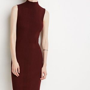 FOREVER21 RIBBED MIDI DRESS